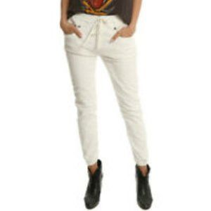 R13 Jogger Style White Jeans